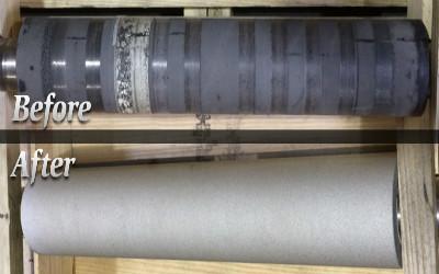 Repairing & coating of printing machine cylinders